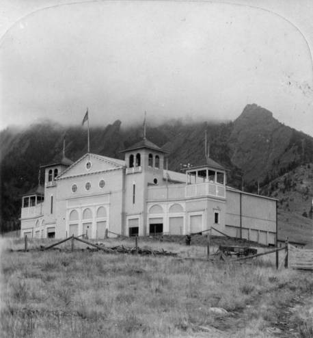 The auditorium of the Colorado Chautauqua at Boulder. (Photo from the Denver Public Library - X11721.)