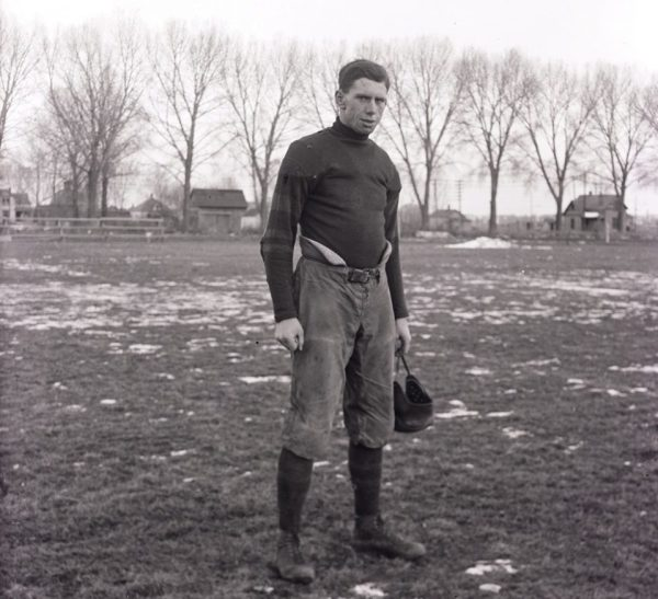 Exhibit 7 – Colorado Agricultural College football photo of three time all-conference center Charles N. Shepardson in 1916