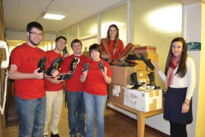 Saint Vincent College SWAG Group shipping 500 pairs of shoes to orphanages shelters