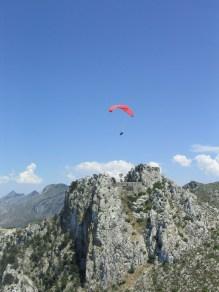 Para Gliding over St. Hilarion