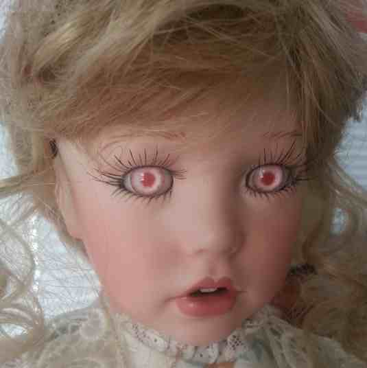 These eyes will scare you out of any stupid purchase.