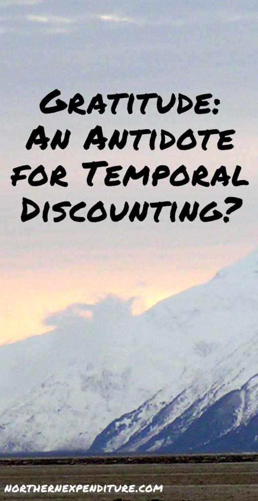 gratitude temporal discounting