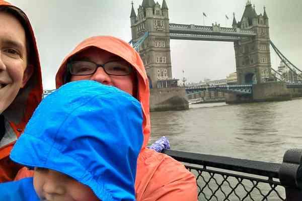 Tower Bridge Rainy Selfie