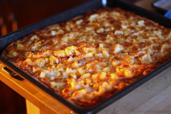 Homemade Pizza Northern Homestead