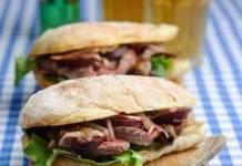 warm steak sandwich