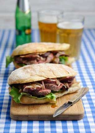 warm steak sandwich