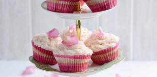 Beetroot Vanilla Cup Cake with Rose Butter Icing