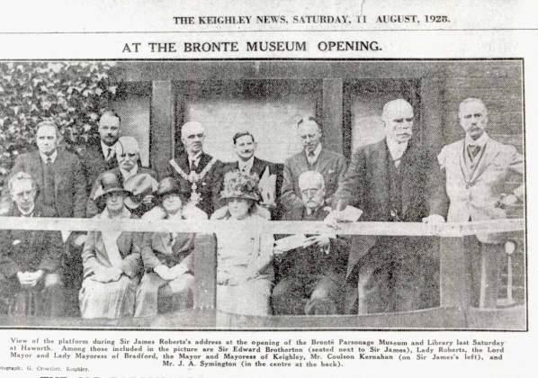 Haworth Parsonage museum opening 1928