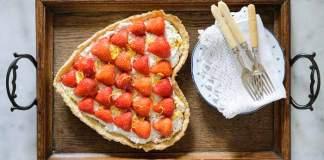 Strawberry Ricotta Lemon and Cream Tart