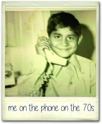 Riz on the phone in the 70s