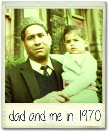 Riz and his Dad in 1970