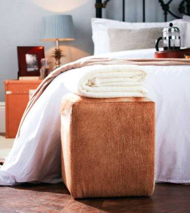Hoxton Tan Cowhide Foot Stool