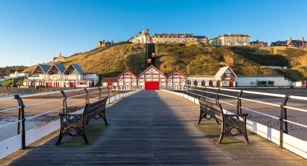 Nort east coast Saltburn-by-the-sea pier
