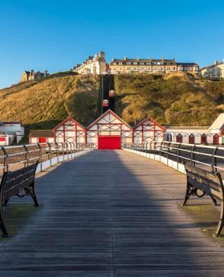 Nort east coast Saltburn-by-the-sea pier