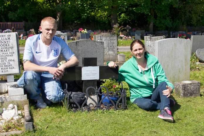 Andrea Dunbar's grave at Scholemoor Cemetery