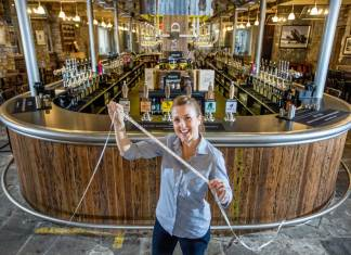 Bowland Beer Hall – home of probably the longest bar in Britain
