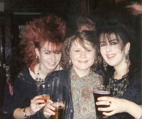Cathy and Sharon with friend inside the Queens