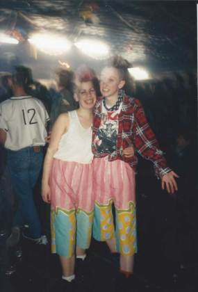 Homemade shorts at a psychobilly gig.