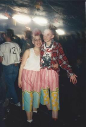 Homemade shorts at a psychobilly gig.