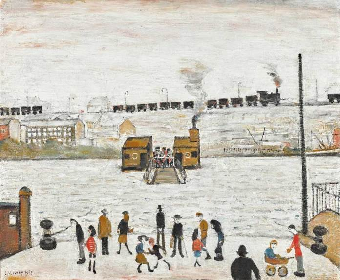 L.S. Lowry, The Ferry at Blyth oil on canvas, 1963