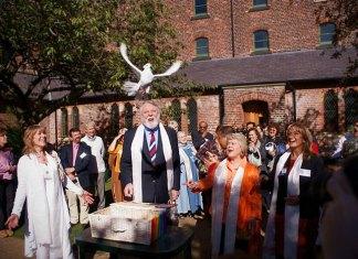 Terry Waite at the Peace Mala