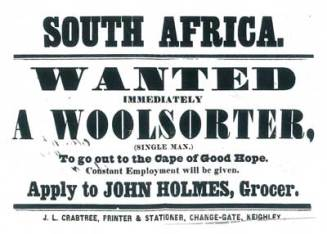 The Cape of Good Hope advertising for an immigrant in 1855