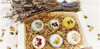 Bath bombs fizzers organic gift set