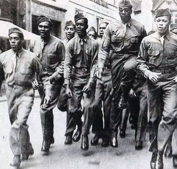 Black American GIs in England during WWII