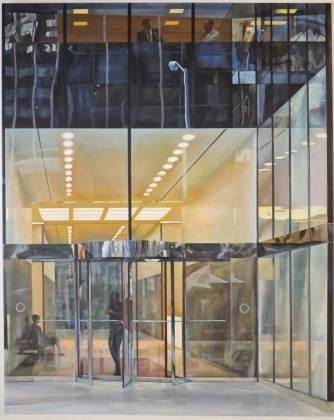 David Chandler The Lobby 127 x 102cm Acrylic on canvas