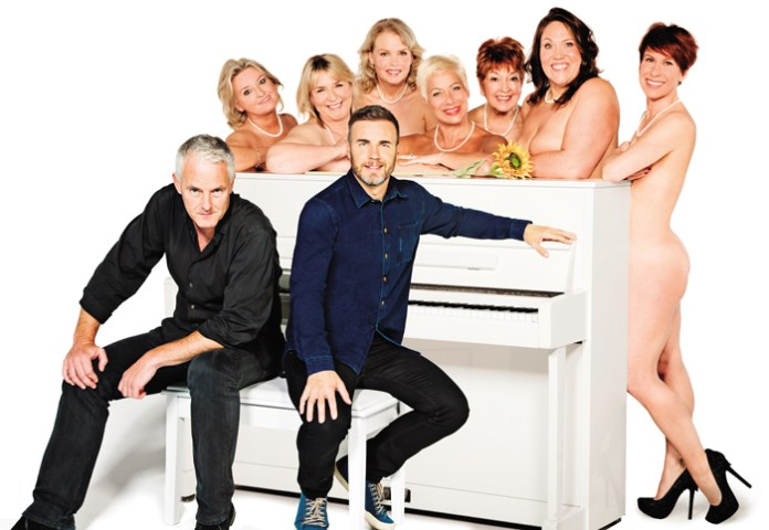 Tim, Gary and the new cast of Calendar Girls