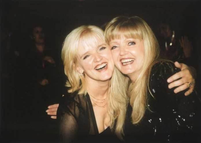 Linda Nolan with Bernie Nolan on her fortieth
