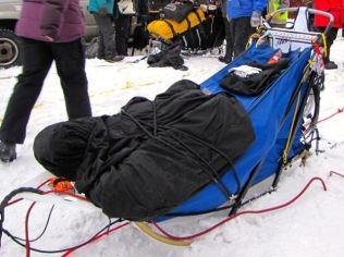 Normand Casavant's sled