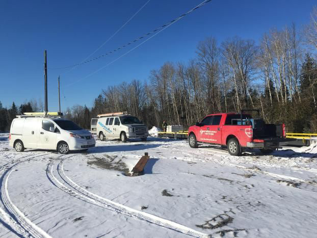 Company Vehicles in Snow