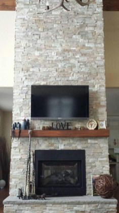TV installed on a Fireplace