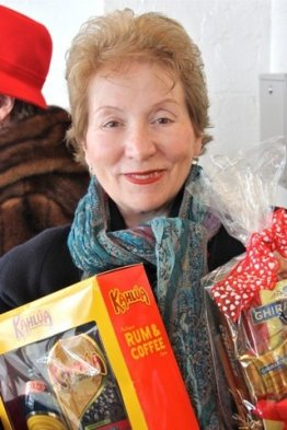 A silent auction winner at the Northern Ohio Opera League's Post Valentine Brunch at the Shaker Country Club 2.16.14