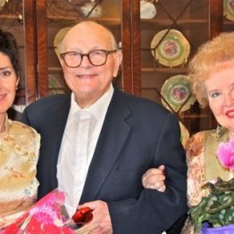 Soprano Andrea Anelli of Opera Per Tutti, John Ingold and Phyllis Donnelly-Ingold, Membership Chair.