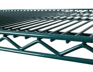 """14"""" X 24"""" Green Epoxy Wire Shelf HH0071"""