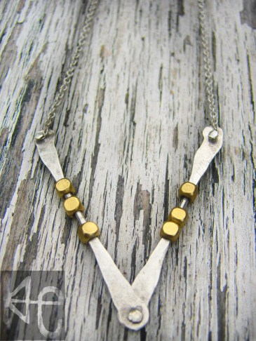 Forged and Brassy Necklace 2p WM