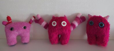 Make it Wednesday's little pink monsters