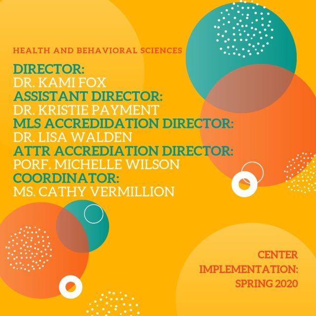Health and Behavioral Sciences Leadership