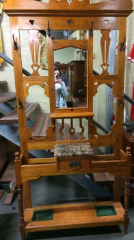 Northern Rivers Antiques - Kauri Pine Hall Stand