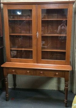 Northern Rivers Antiques - 1890's Kauri Pine Bookcase/Sideboard