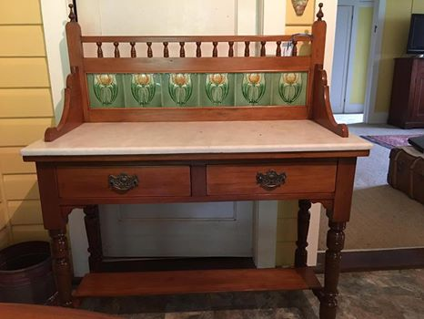 Marble and Tile Kauri Washstand, c1905