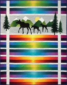 Moose Trio Applique Quilt