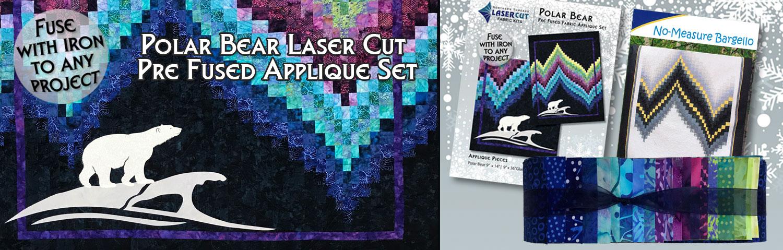 Polar Bear Laser Cut Applique Set