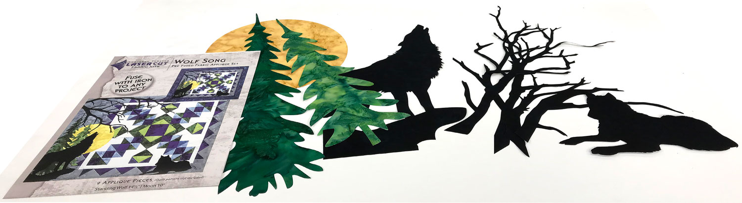 Wolf Song Laser Cut Applique
