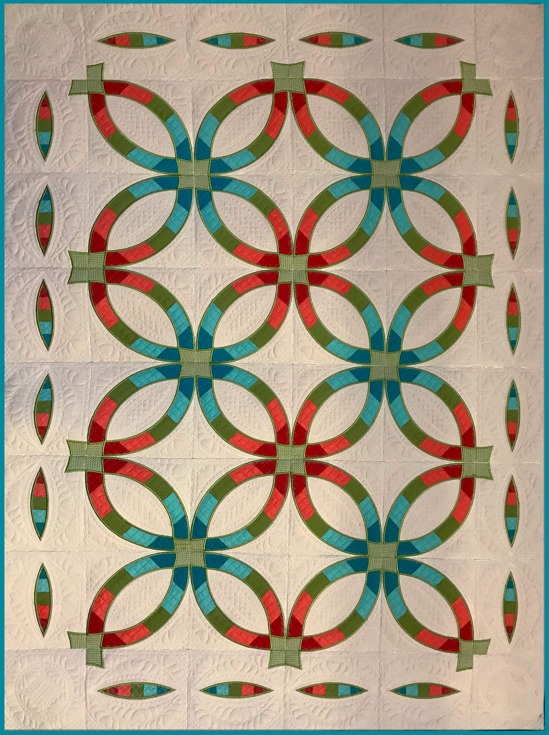 Wedding Ring Quilt Pattern.Hoopsisters Double Wedding Ring Quilt In The Hoop