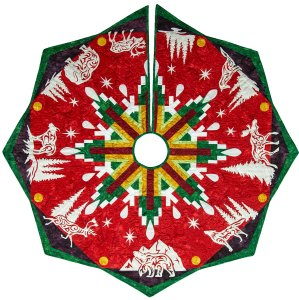 Arctic Holiday Tree Skirt by Marie Noah