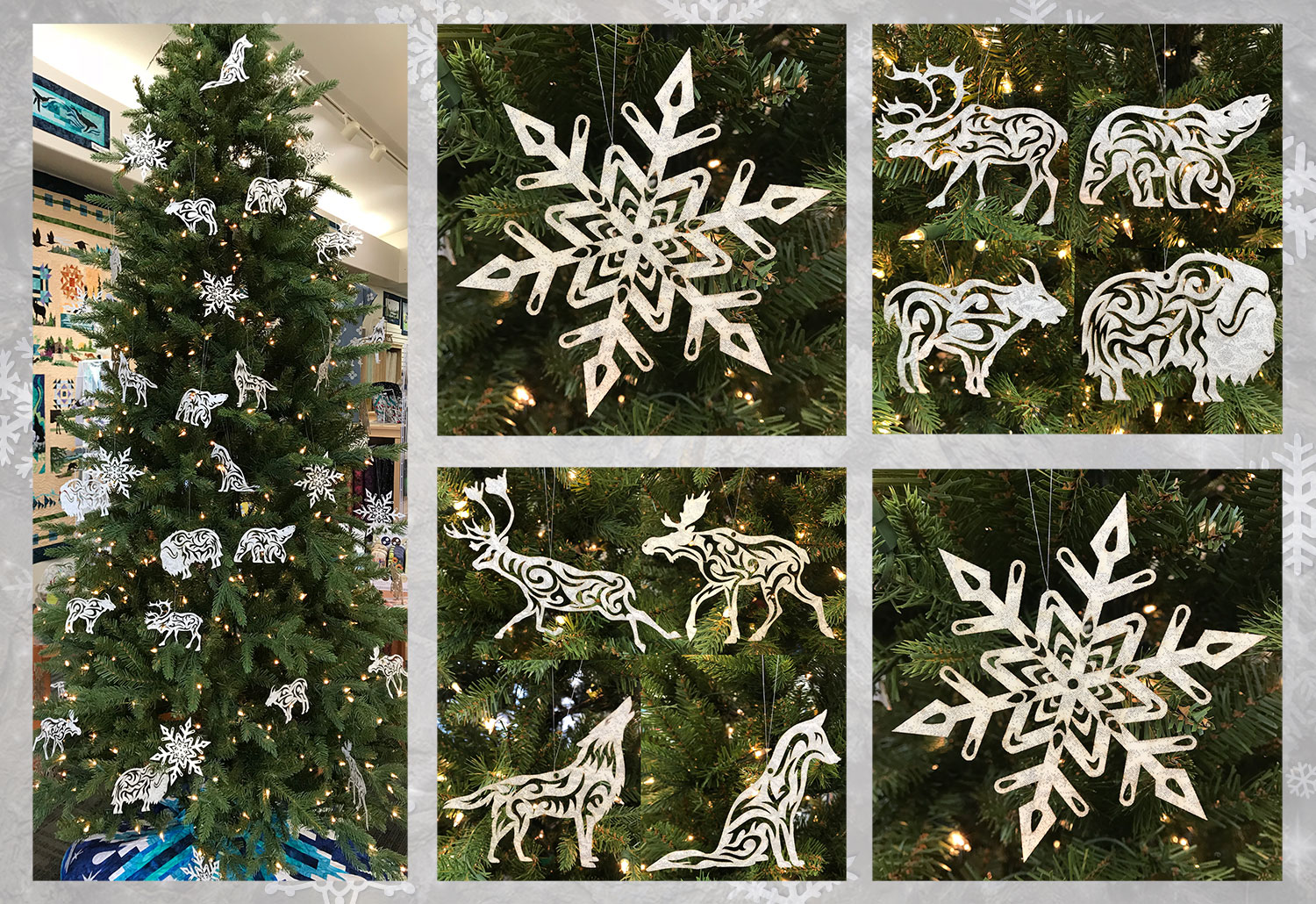 Arctic Holiday Laser Cut Ornaments by Marie Noah