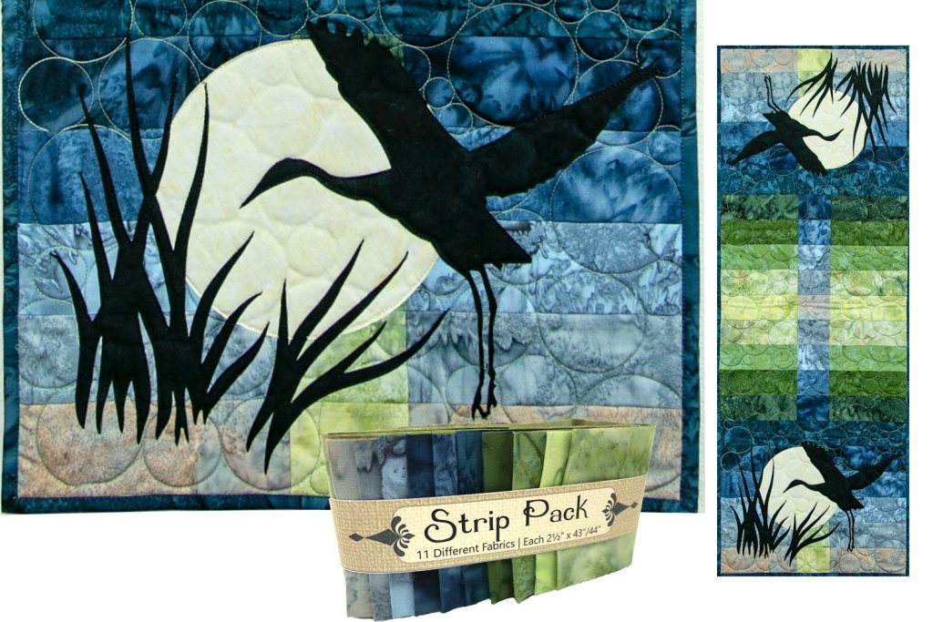 Wildwood Sandhill Crane Laser Cut Applique Set by Marie Noah